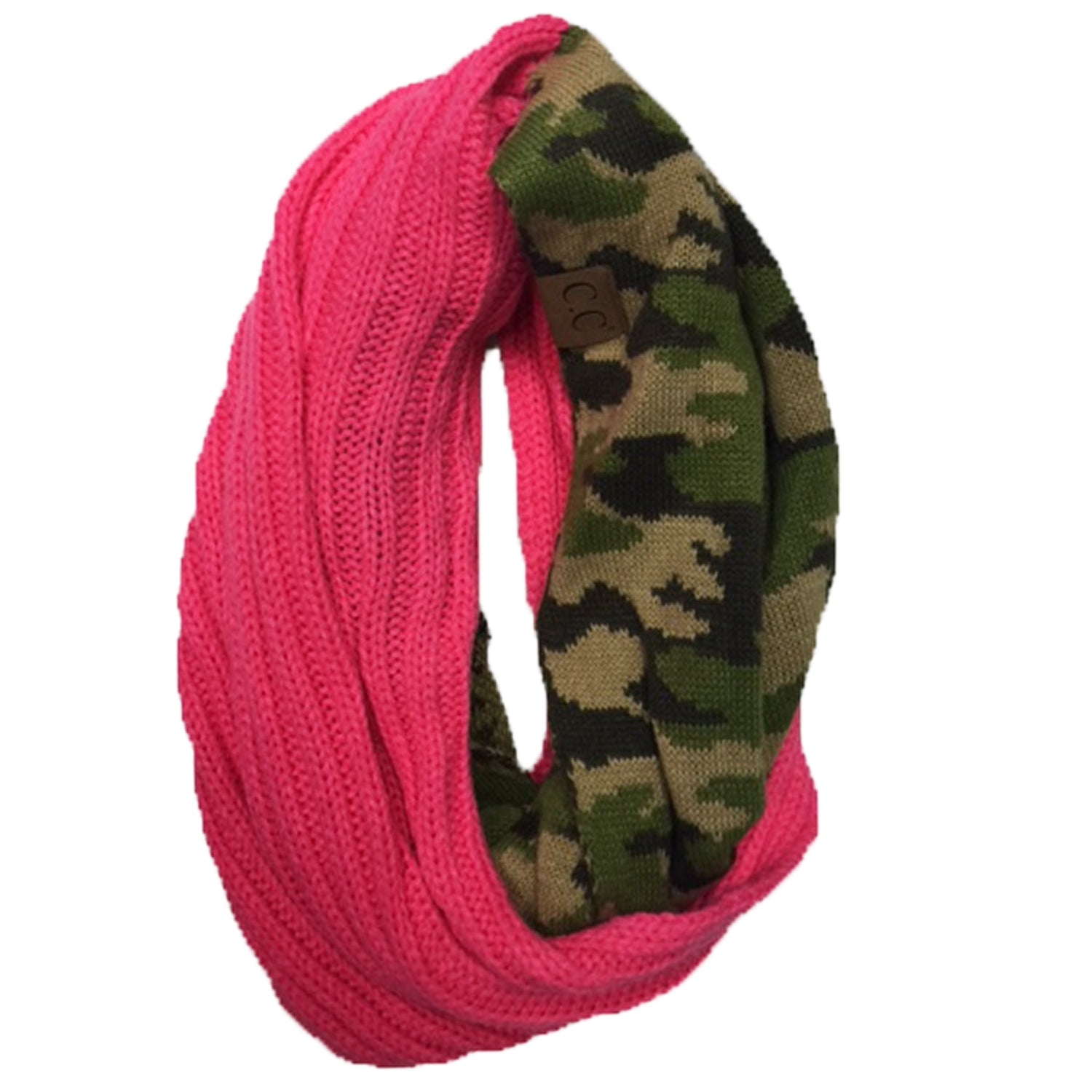 SF-46 CAMO INFINITY SCARF CANDY PINK