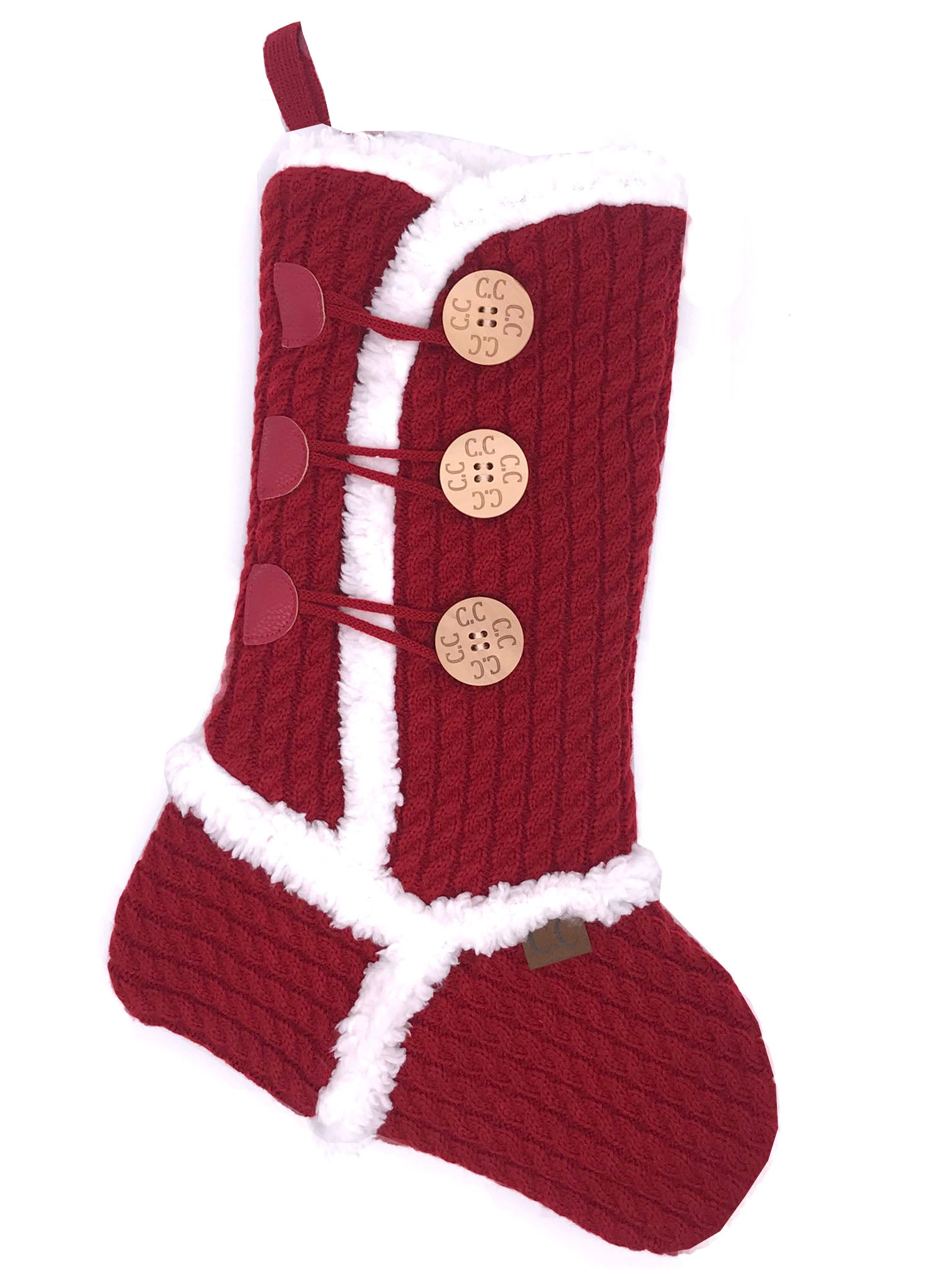 CC-Sherpa Stocking Red