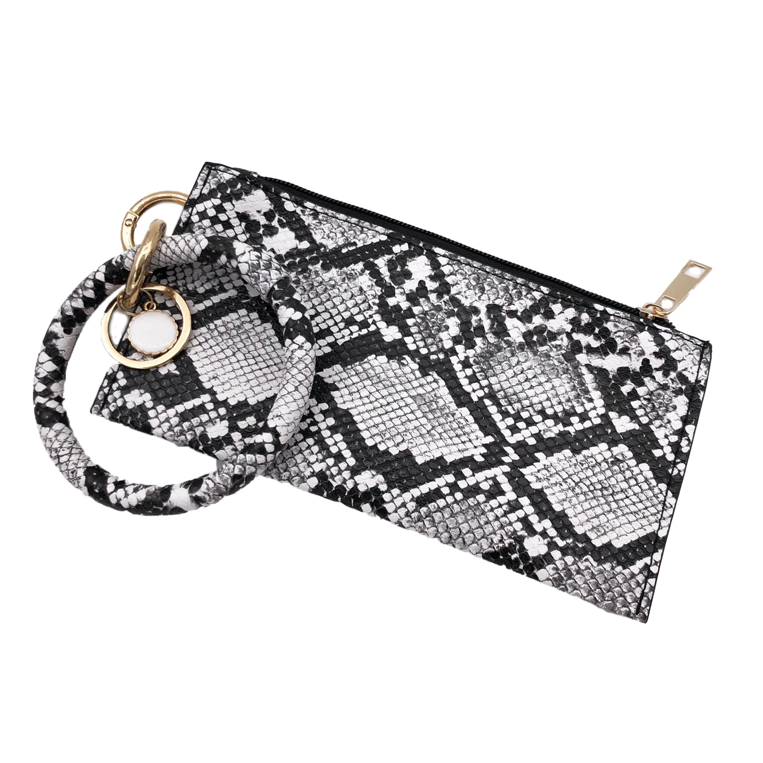 CL-8848 Wristlet Clutch Black Snake