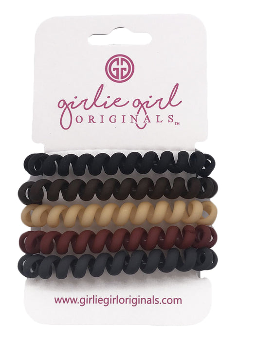 TC-21 Matte Telephone Cord Hair Ties