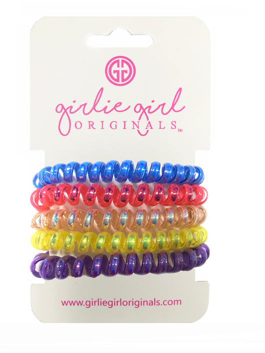 TC-IR 4 Telephone Cord Hair Ties