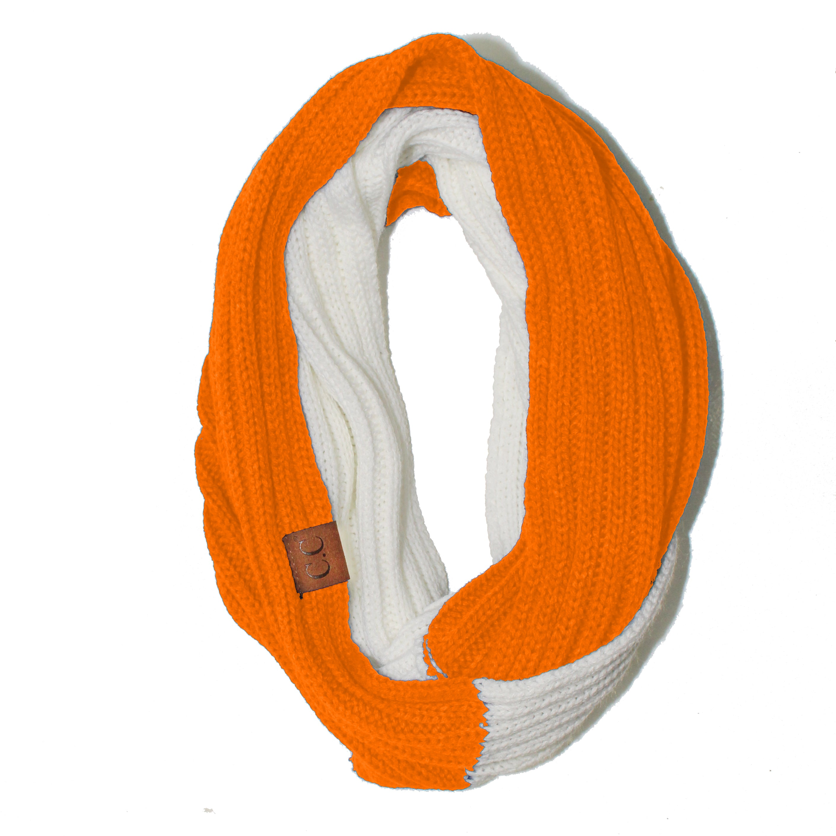 SF-56-8 Bright Orange and White Team Infinty Scarf