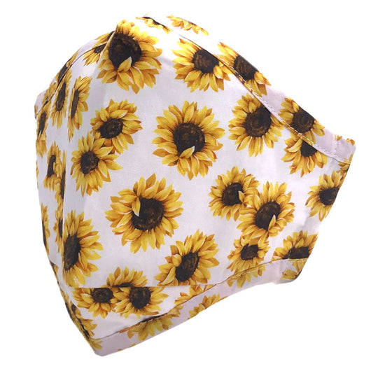 ADULT MASK SUNFLOWER WHITE
