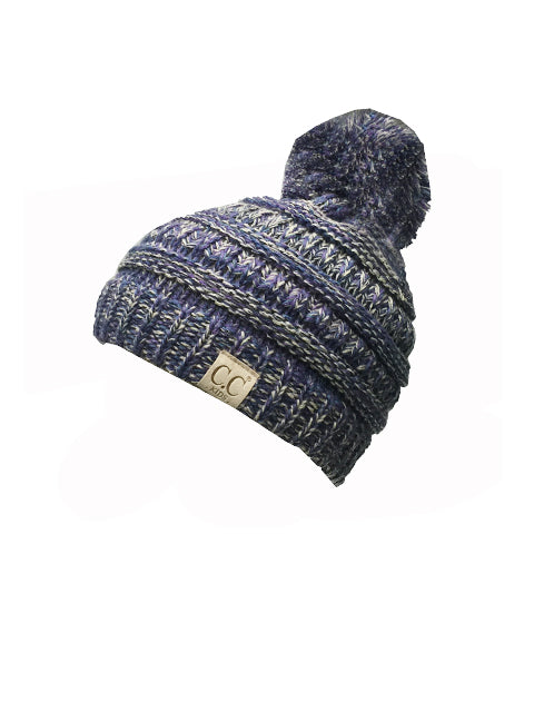 YJ-816-2 Kid Beanie with Pom