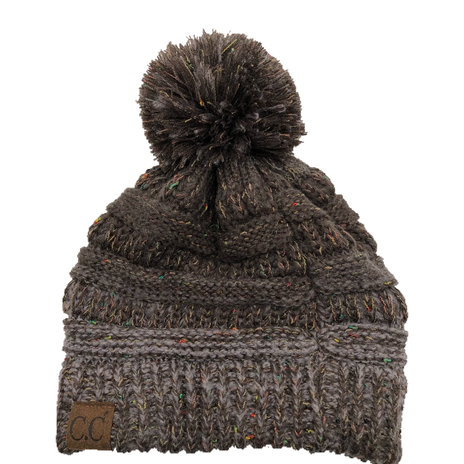 YJ-817 Speckled Pom Beanie - Brown