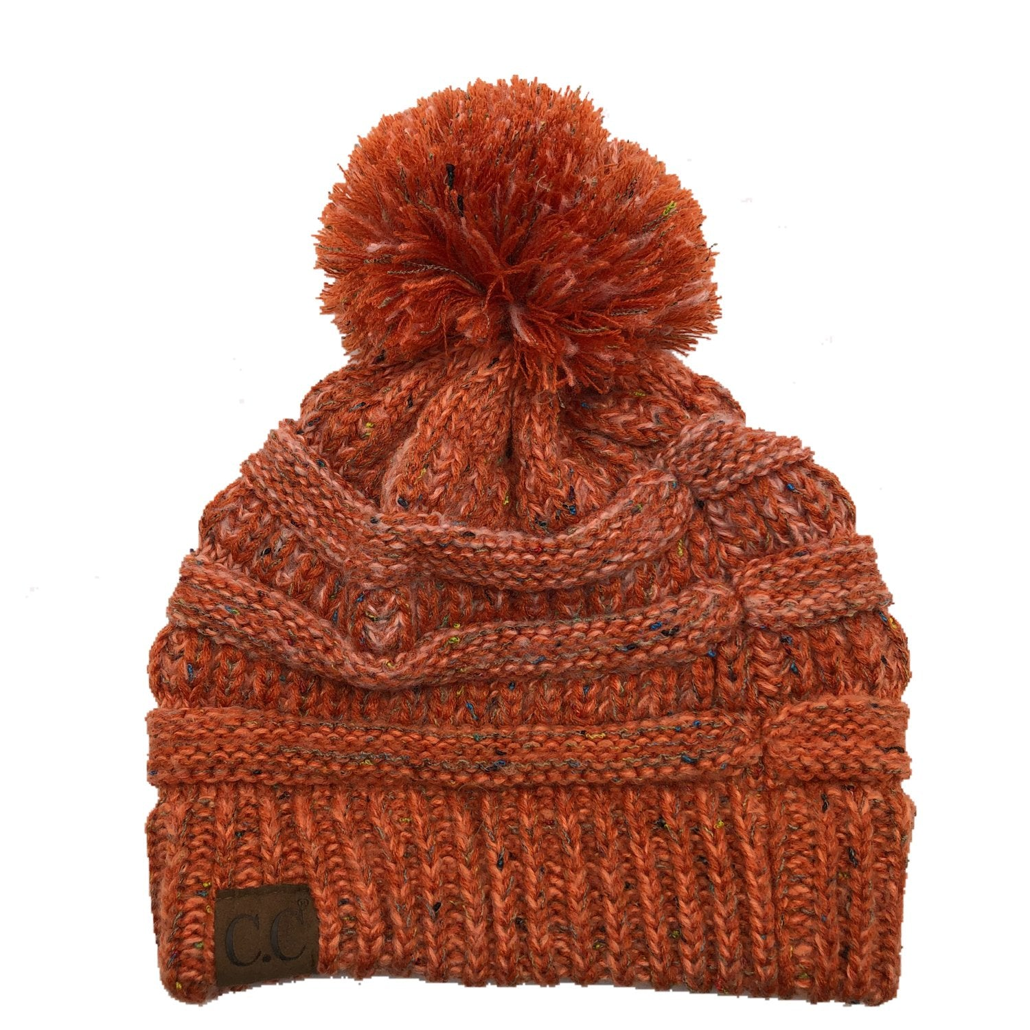 YJ-817 Speckled Pom Beanie - Orange