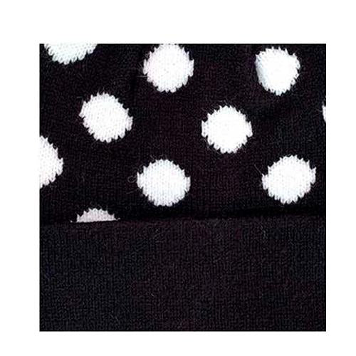 PD-KIDS-21 Hat Polka Dot Beanie Black/White