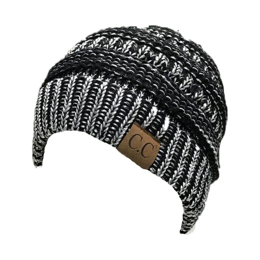 HAT-20A BEANIE METALLIC BLACK SILVER