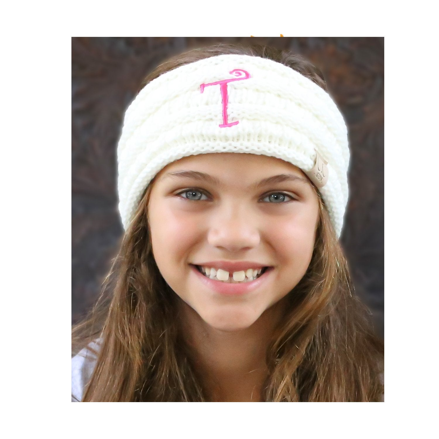 BJ-Kids-1 Initial Headwrap Ivory