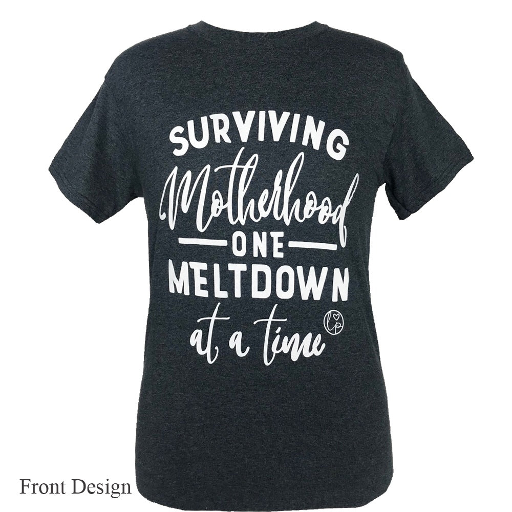 LP-Motherhood Meltdown Dark Heather Short Sleeve T-Shirt