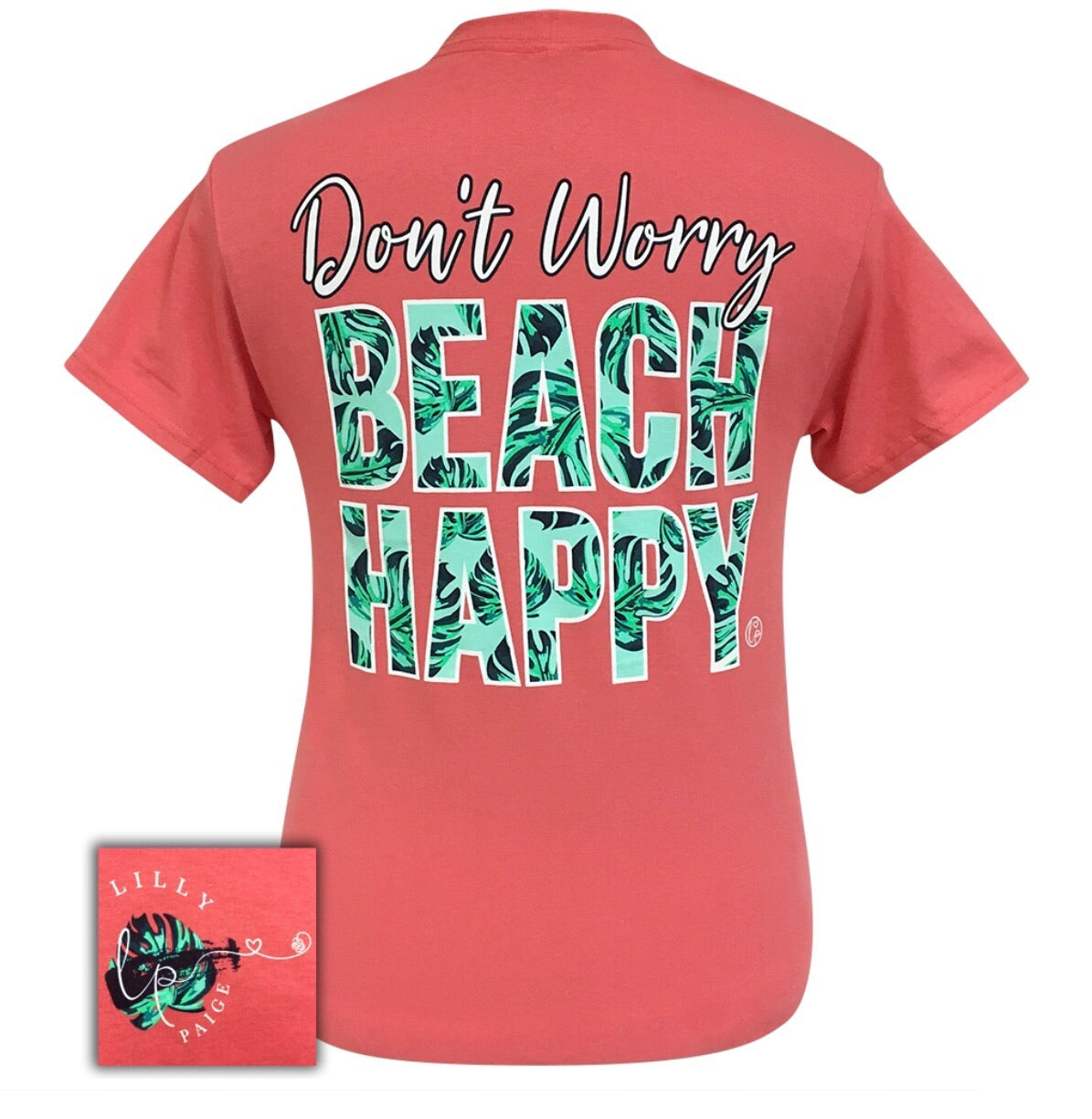 LP-Beach Happy Coral Short Sleeve T-Shirt