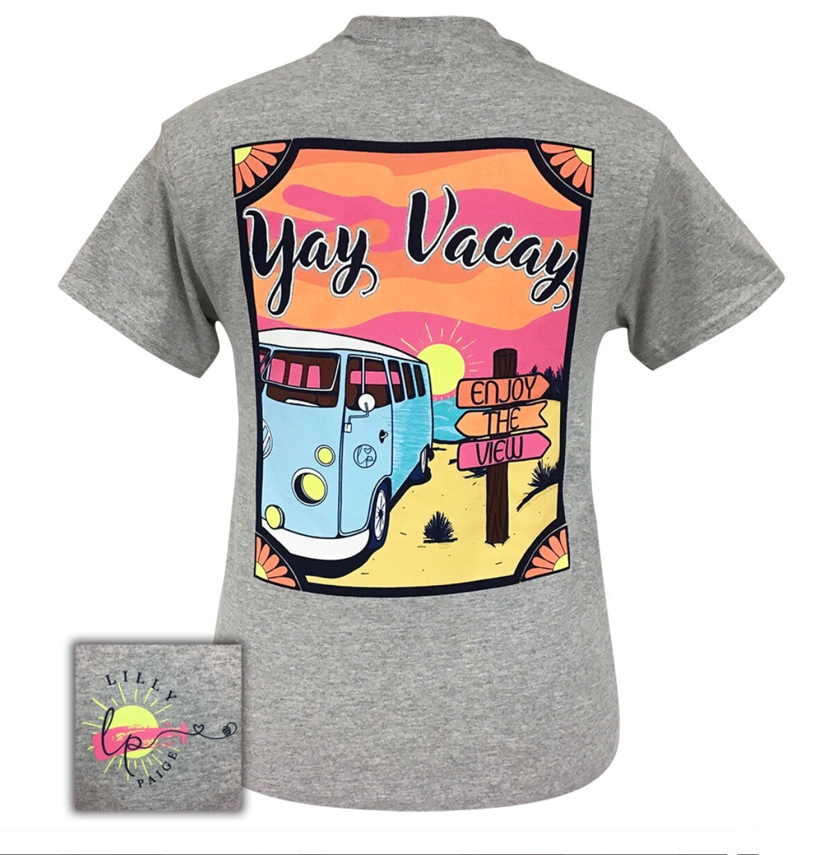 LP-Yay Vacay Sports Grey Short Sleeve T-Shirt