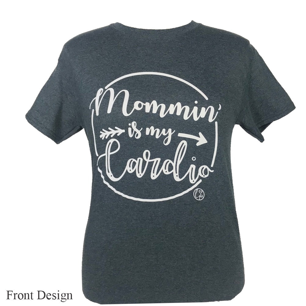 LP-Mommin Is My Cardio Dark Heather Short Sleeve T-Shirt