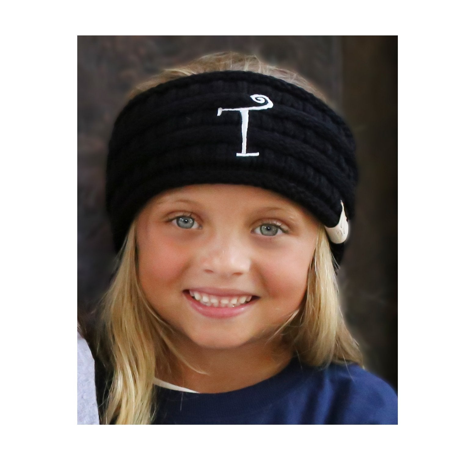BJ-Kids-HW-1 Initial Headwrap Black