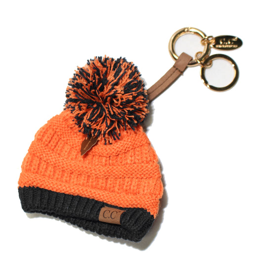 KB-56 Team Color Beanie Keychain Orange and Black