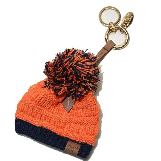 KB-56 Team Color Beanie Keychain Orange and Navy