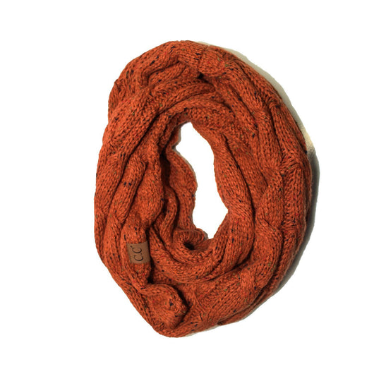 SF-33-Rust Speckled Infinity Scarf