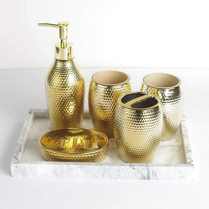 Gold Gloss Bathroom Accessories Set