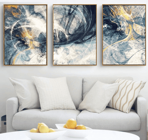Deep Brushed Abstract Canvas