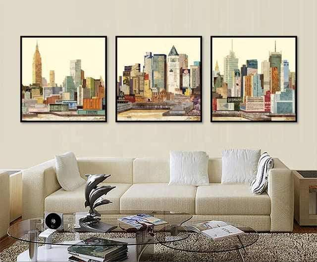 Concrete Jungle Stretched Canvas