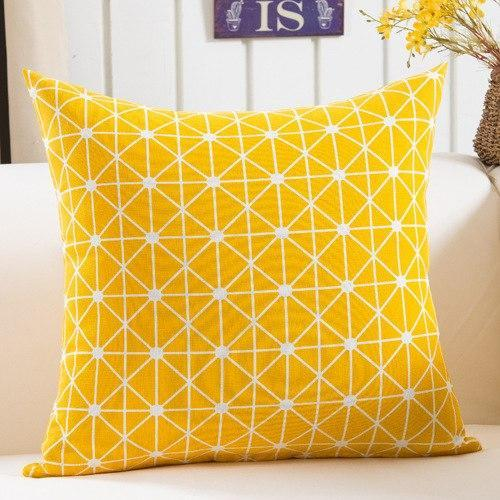 Graphical Yellow Cushion