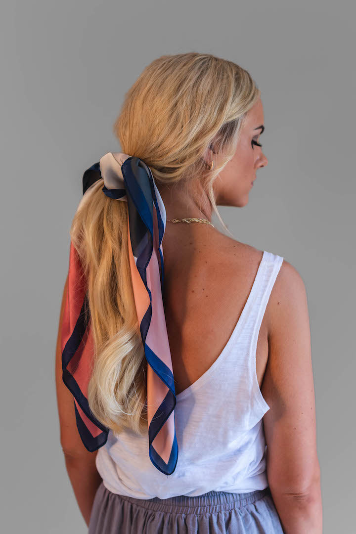 Beautiful soft and silky colour block scarf is the perfect addition to any outfit.
