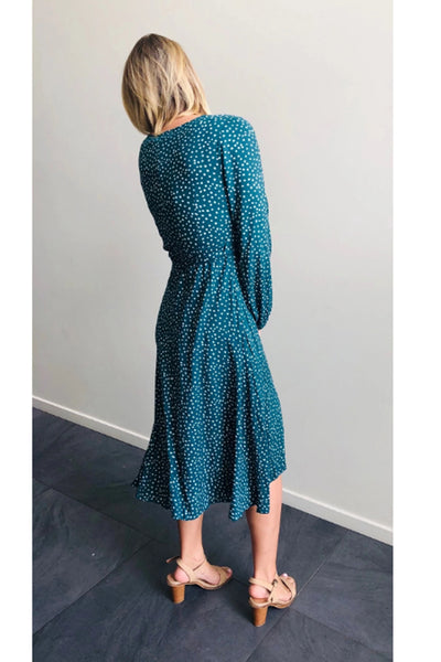 BLAIR DRESS -TEAL