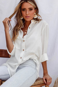 The Boyfriend shirt is a beautiful soft cotton. With is button down front, longer line and relaxed fit it is very easy to wear.