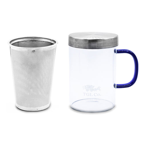 TGL Co. Glass Tea Mug with steel Infuser