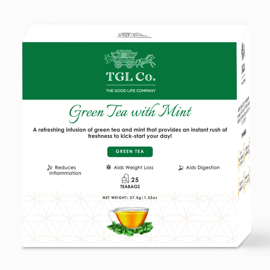 Green Tea with Mint - Pack of 25