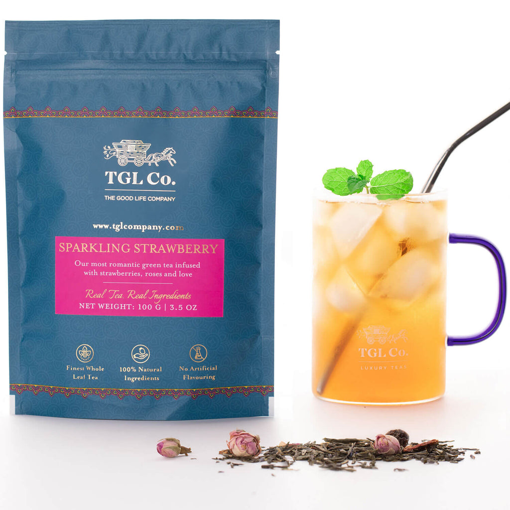 TGL Co. Sparkling Strawberry Green Tea