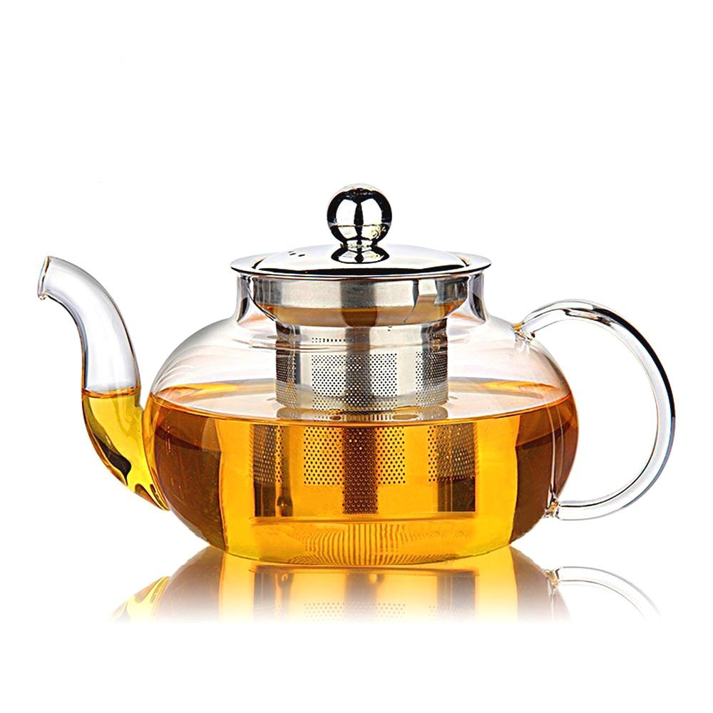 TGL Co. Glass Teapot Kettle with Stainless Steel Infuser