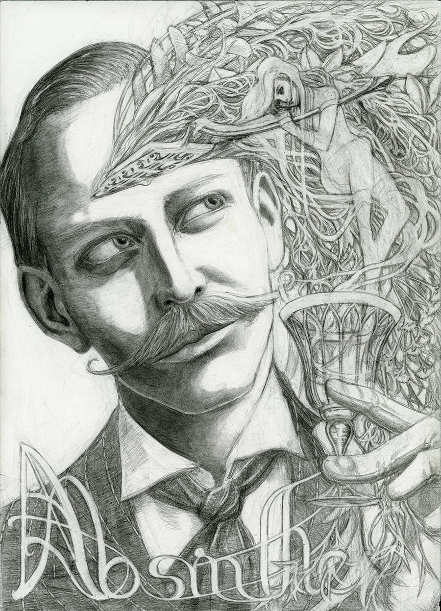 ABSINTHE - ORIGINAL PENCIL DRAWING