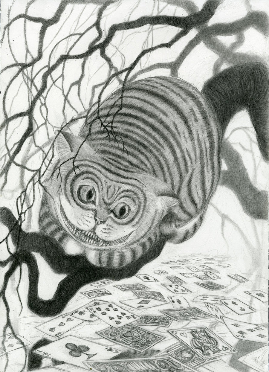 CHESHIRE CAT- ORIGINAL PENCIL DRAWING