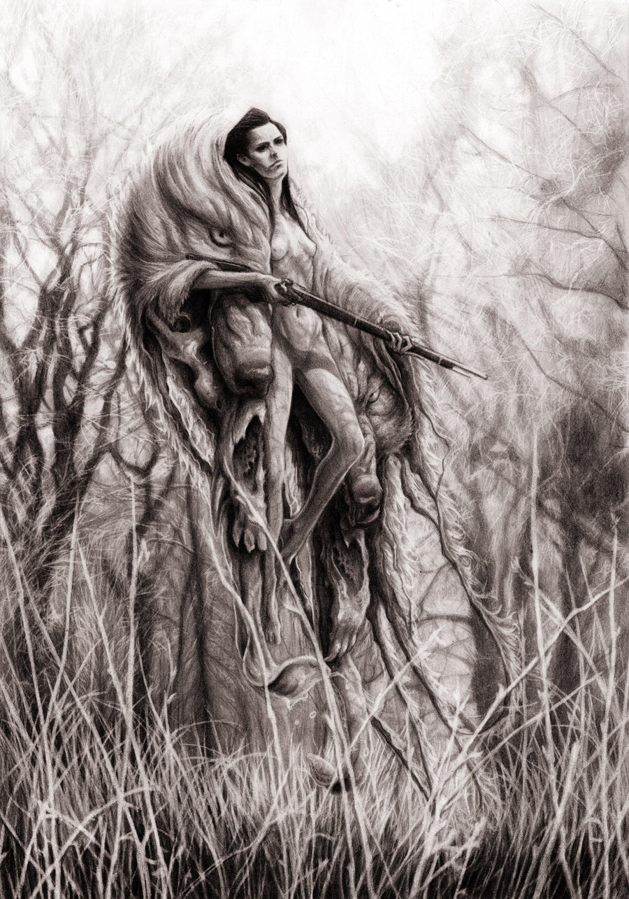 FEAST OR FAMINE - ORIGINAL PENCIL DRAWING