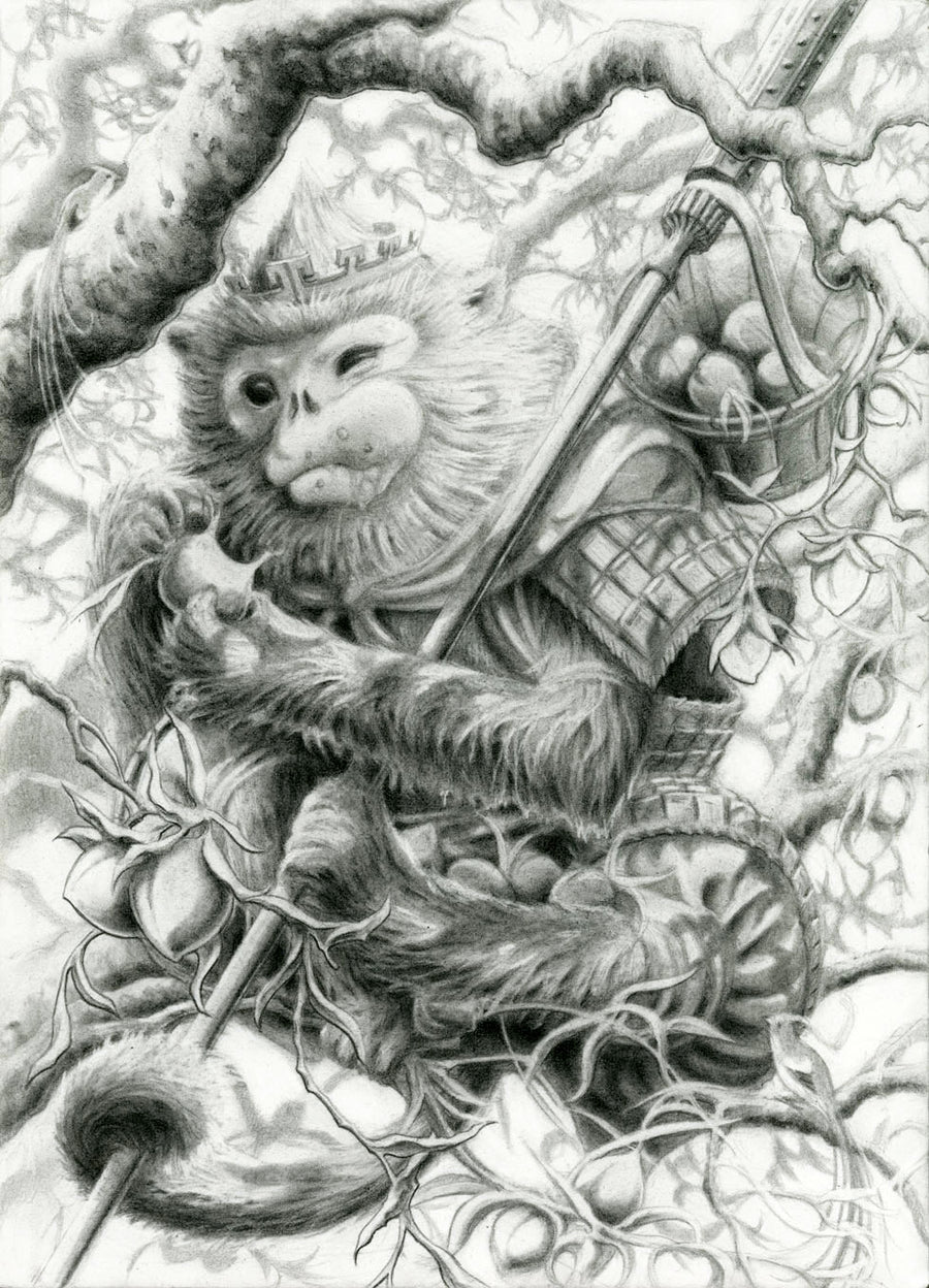 THE MONKEY KING - ORIGINAL PENCIL DRAWING
