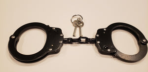 Black Professional Carbon Steel Handcuffs