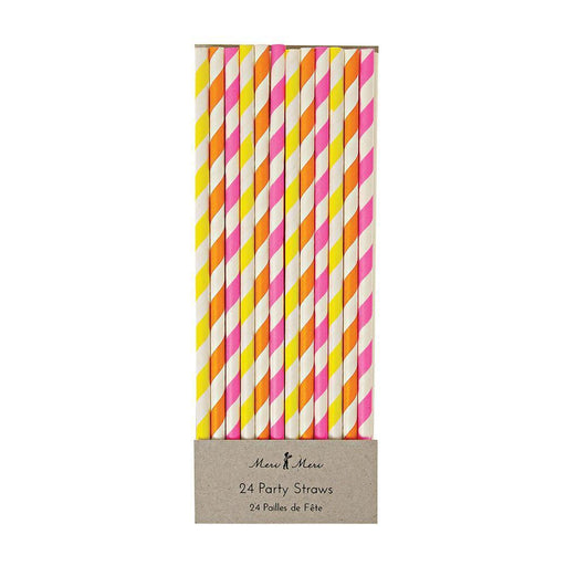 Neon Paper Straws - Party, Girl!