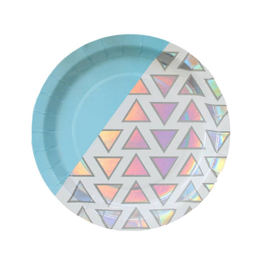 Disco Diamond Iridescent Large Paper Plates - Party, Girl!