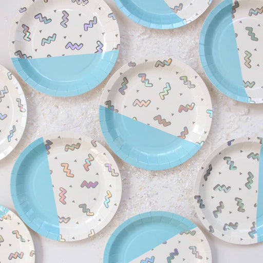 Disco Diamond Iridescent Small Paper Plates - Party, Girl!