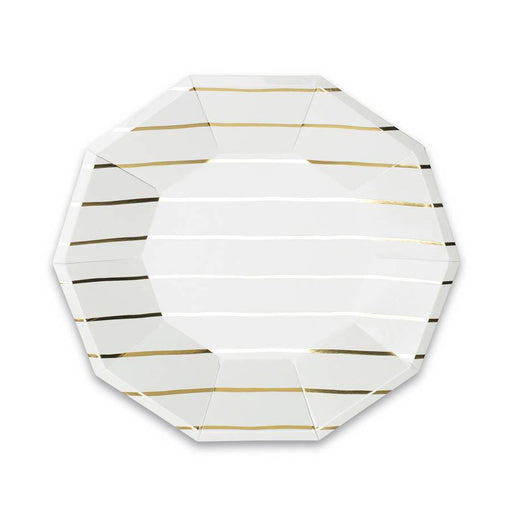 Simple Stripes Metallic Plates Large (multiple colors available) - Party, Girl!
