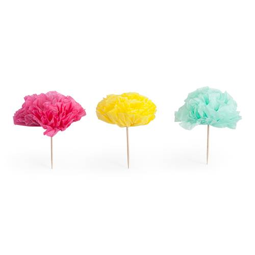 Assorted Flower Treat Picks - Party, Girl!