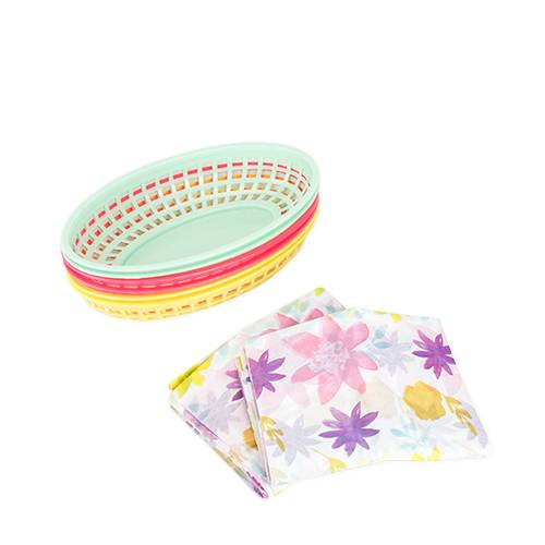 Assorted Meadowland Food Basket & Tissue Paper - Party, Girl!