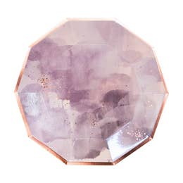 Amethyst - Light Purple Watercolor Large Paper Plates - Party, Girl!