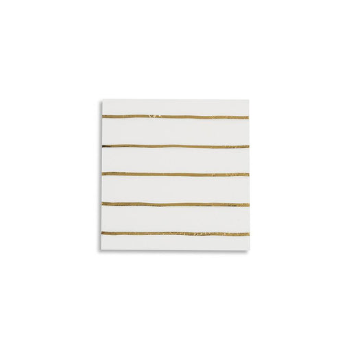 Simple Stripes Metallic Napkins Small (multiple colors available) - Party, Girl!