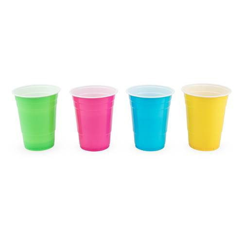 Plastic 16 oz Graphic Color Cups Set of 24 - Party, Girl!