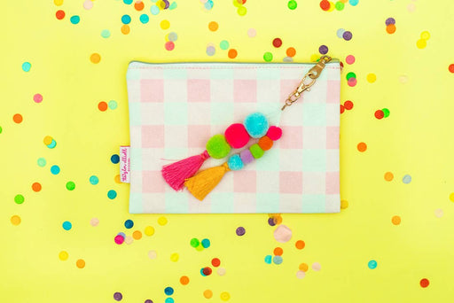 Pink Gingham Pouch - Party, Girl!
