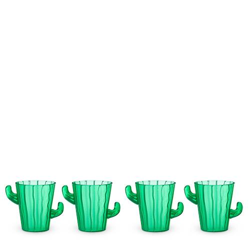 Green Cactus Shot Glasses Set of 4 - Party, Girl!