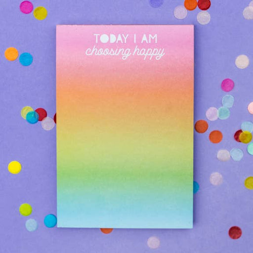 Choose Happy 4x6 Notepad - Party, Girl!