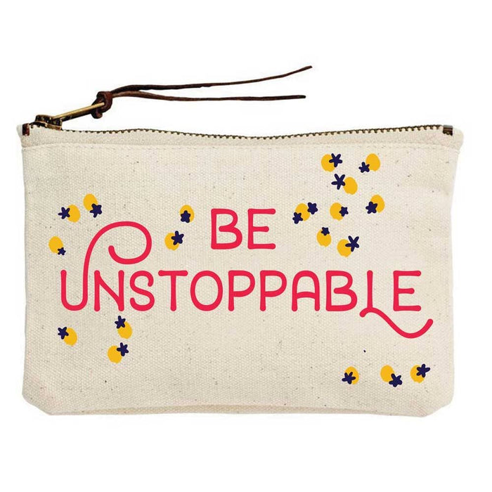 Be Unstoppable Canvas Pouch - Party, Girl!